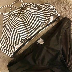 Striped Halter Bikini